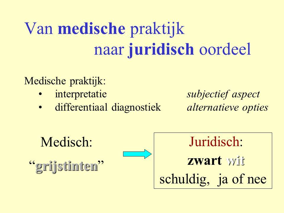 Van medische praktijk naar juridisch oordeel
