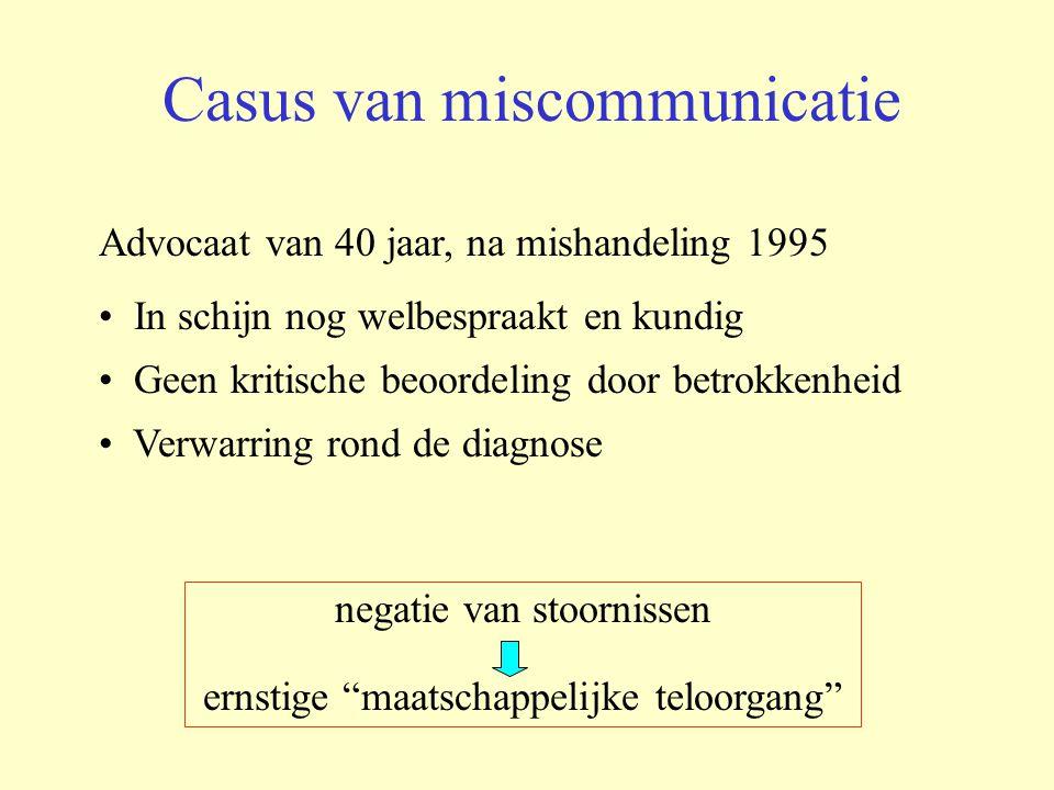 Casus van miscommunicatie