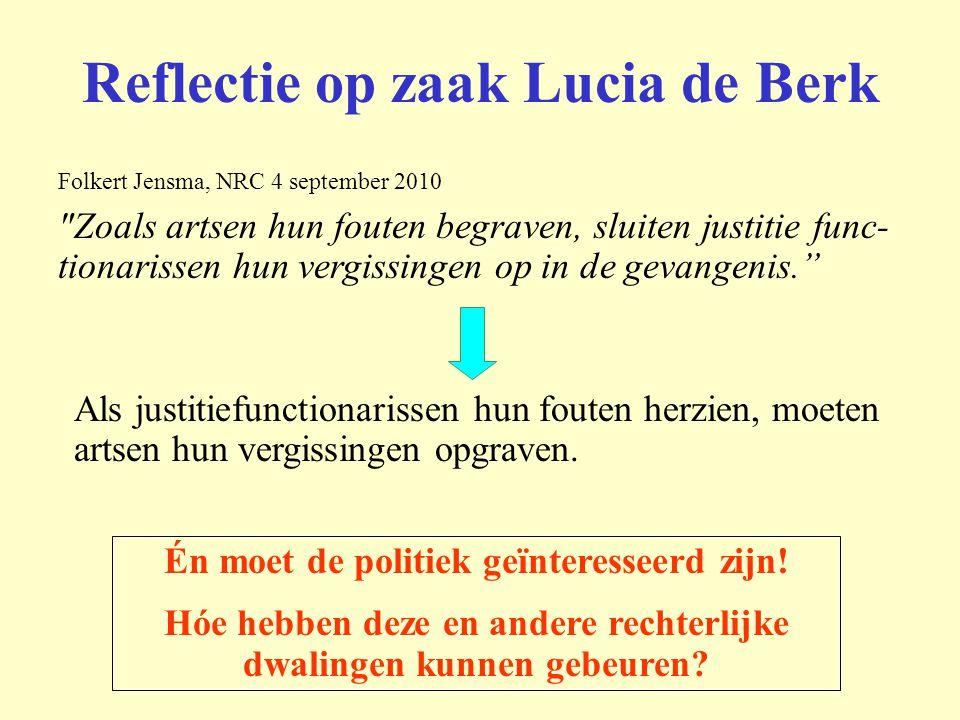 Reflectie op zaak Lucia de Berk