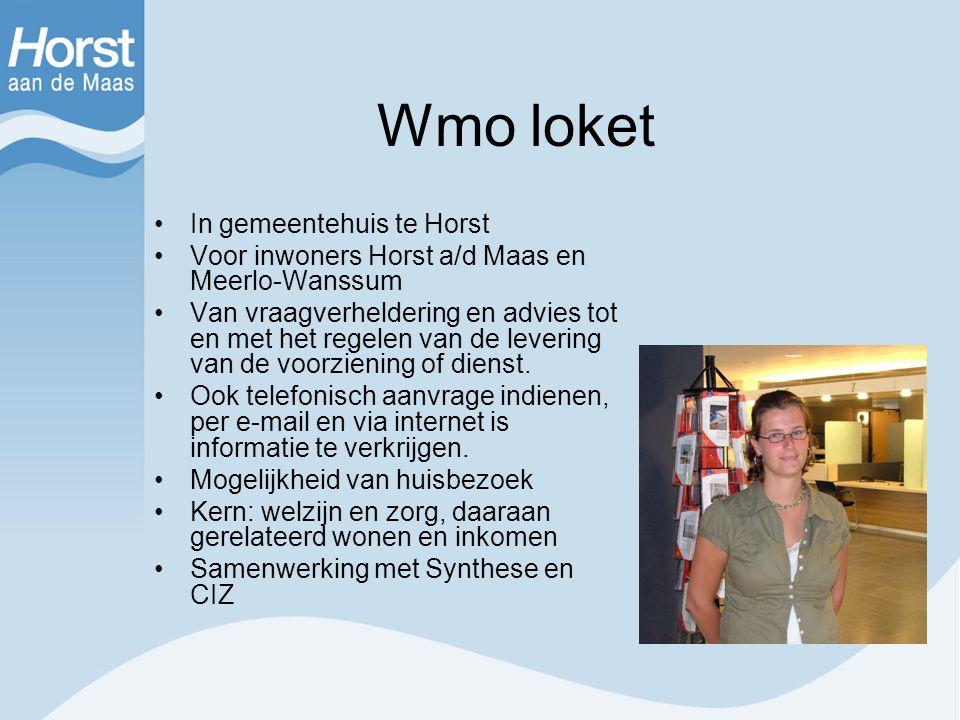 Wmo loket In gemeentehuis te Horst
