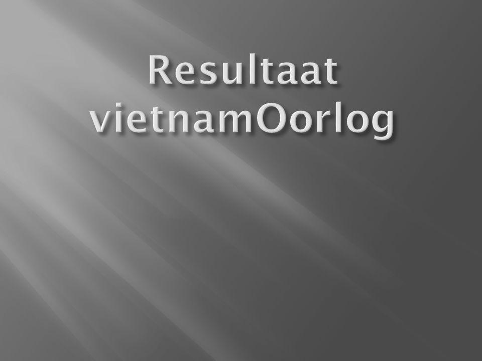Resultaat vietnamOorlog