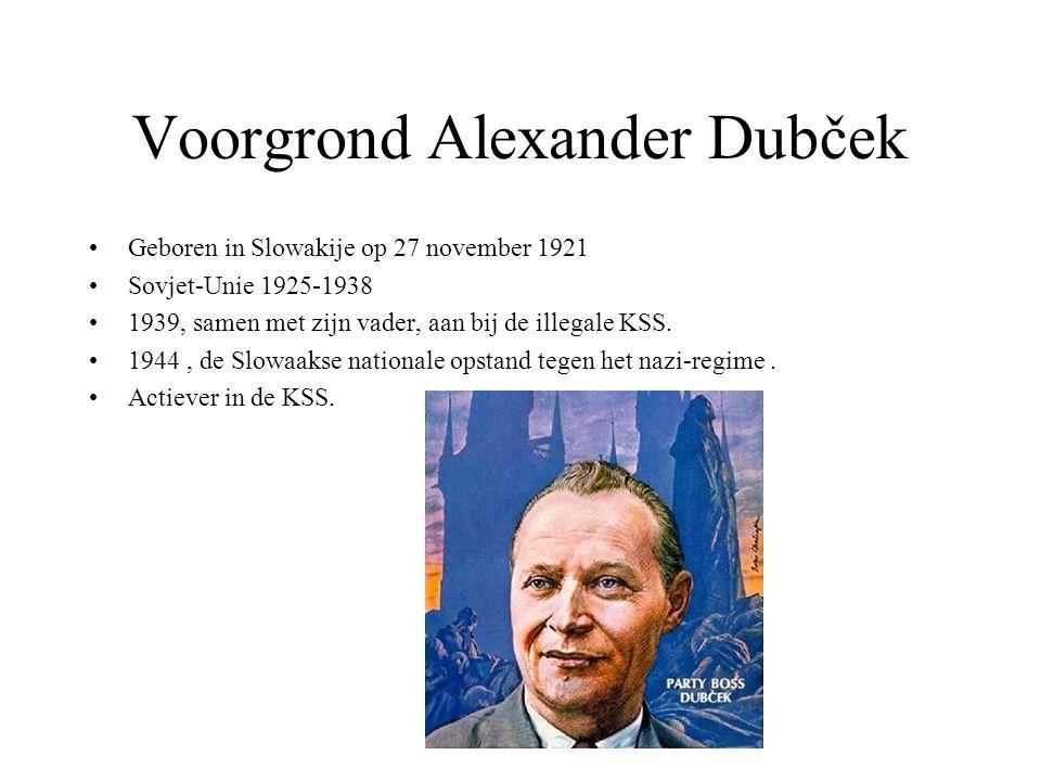 Voorgrond Alexander Dubček
