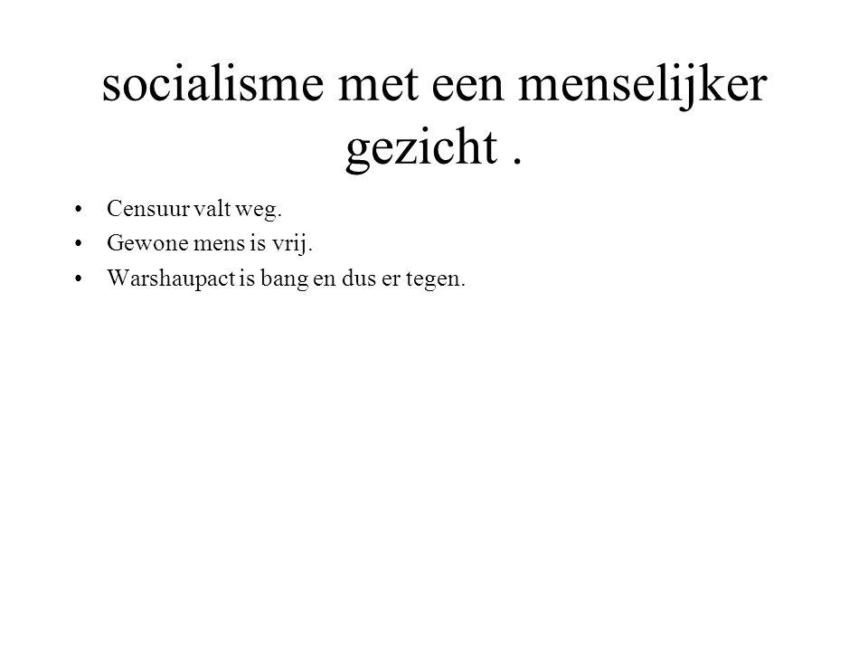 socialisme met een menselijker gezicht .