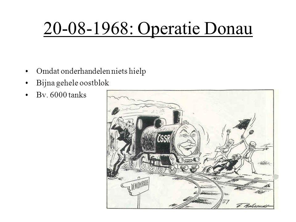 20-08-1968: Operatie Donau Omdat onderhandelen niets hielp