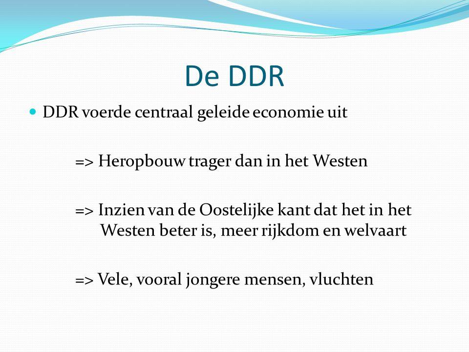 De DDR DDR voerde centraal geleide economie uit