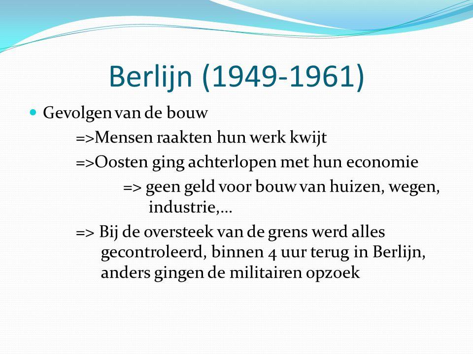 Berlijn (1949-1961) Gevolgen van de bouw