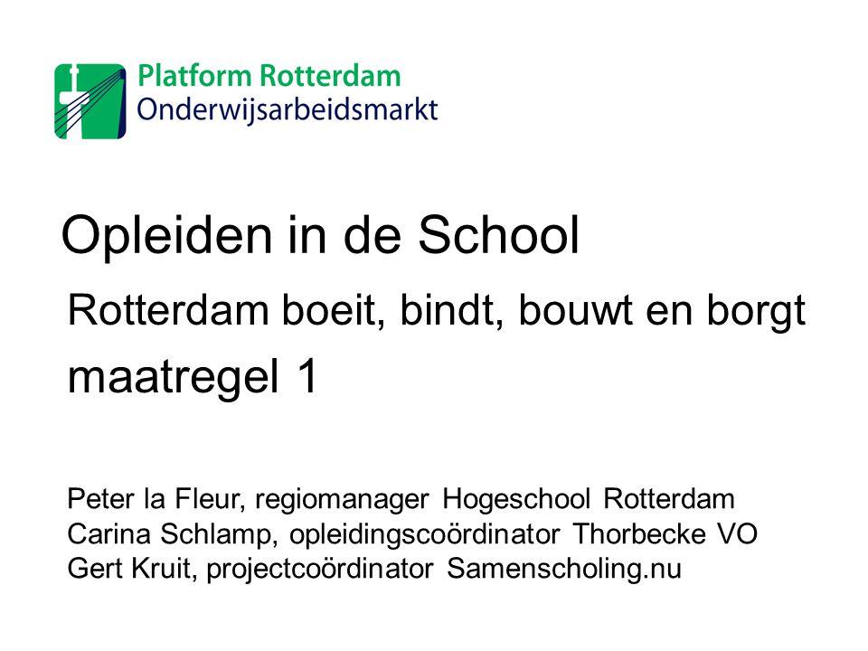 Rotterdam boeit, bindt, bouwt en borgt maatregel 1