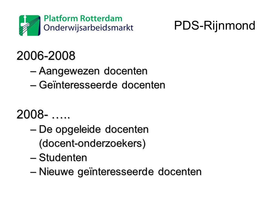 PDS-Rijnmond 2006-2008 2008- ….. Aangewezen docenten