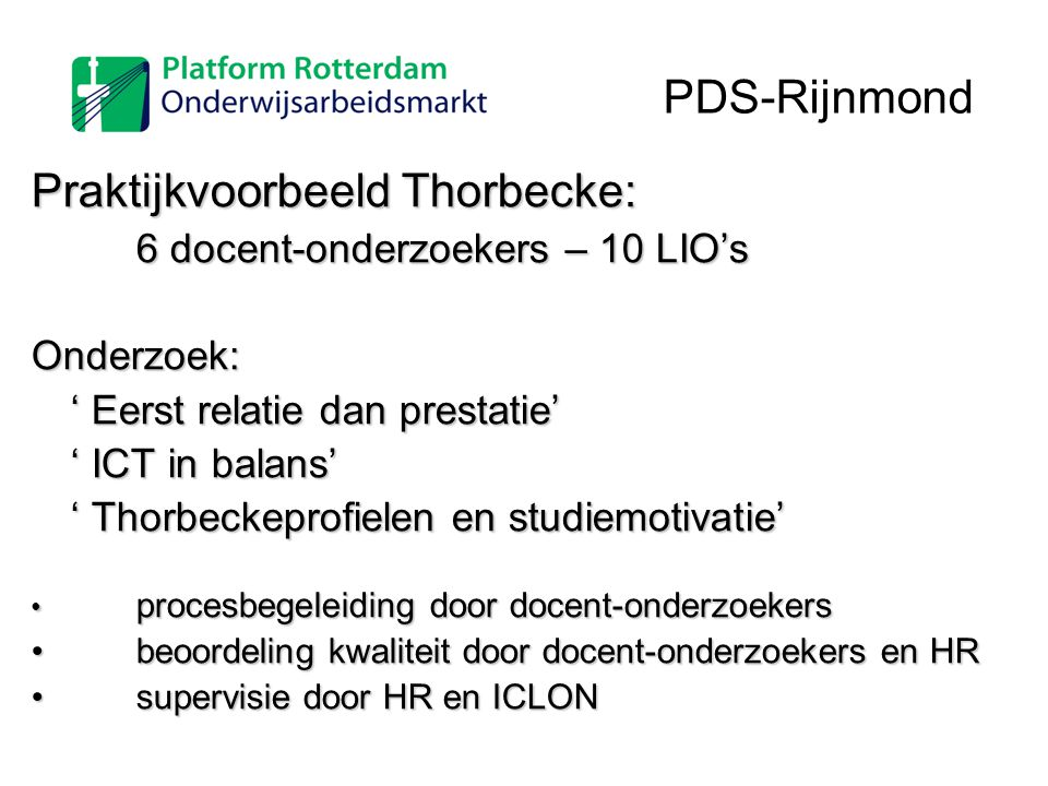 Praktijkvoorbeeld Thorbecke:
