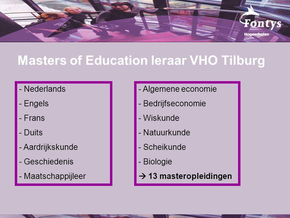 Masters of Education leraar VHO Tilburg