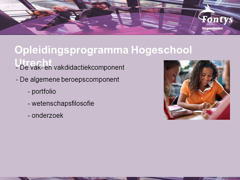 Opleidingsprogramma Hogeschool Utrecht