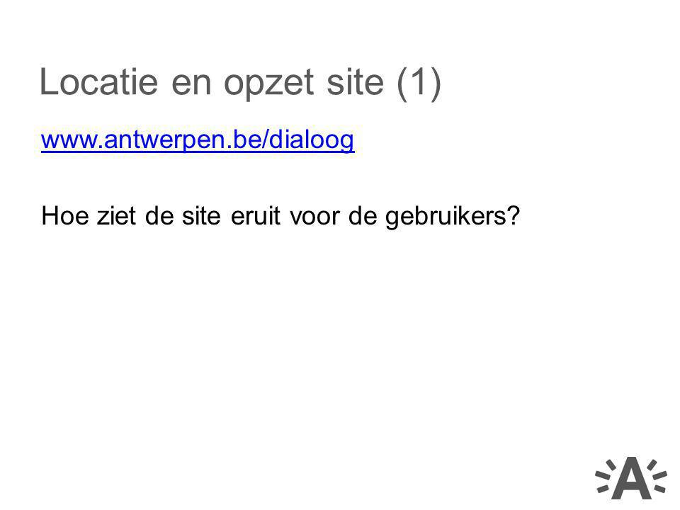 Locatie en opzet site (1)
