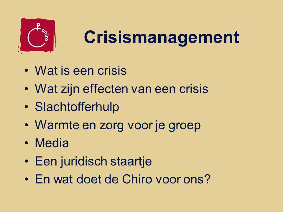 Crisismanagement Wat is een crisis Wat zijn effecten van een crisis