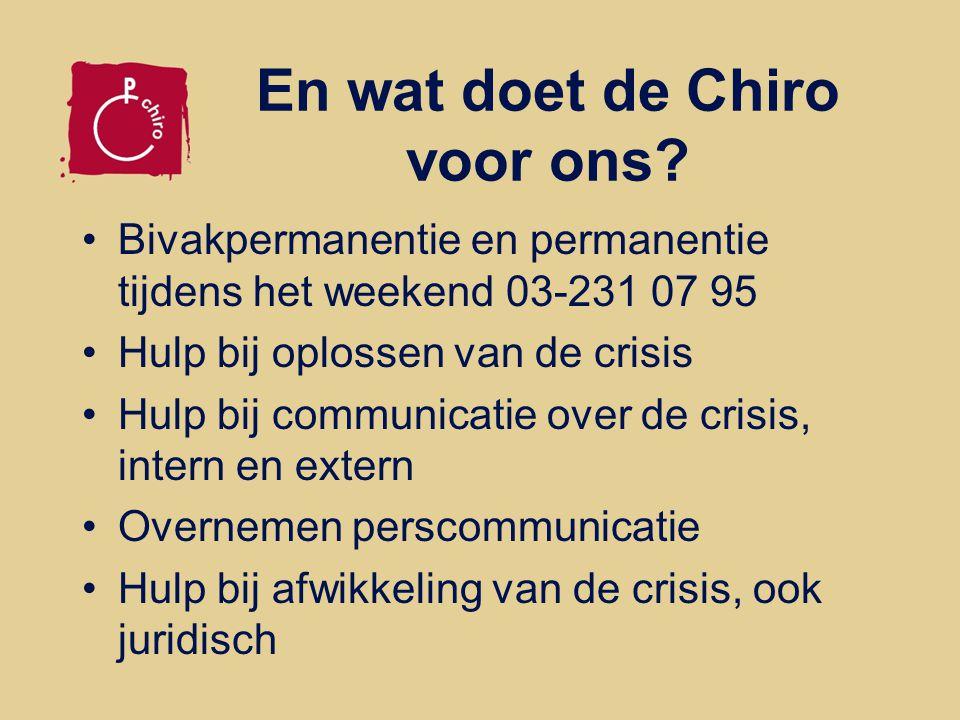 En wat doet de Chiro voor ons