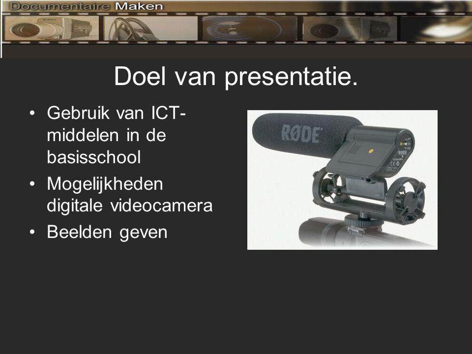 Doel van presentatie. Gebruik van ICT-middelen in de basisschool