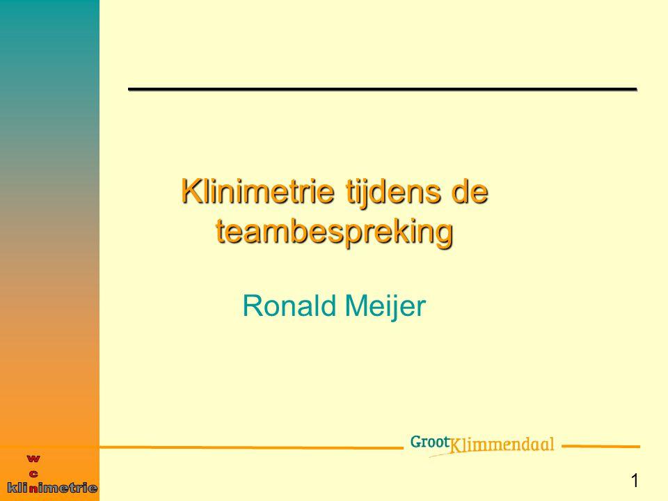 Klinimetrie tijdens de teambespreking