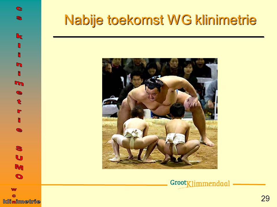 Nabije toekomst WG klinimetrie