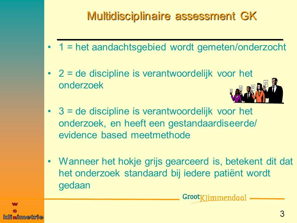 Multidisciplinaire assessment GK