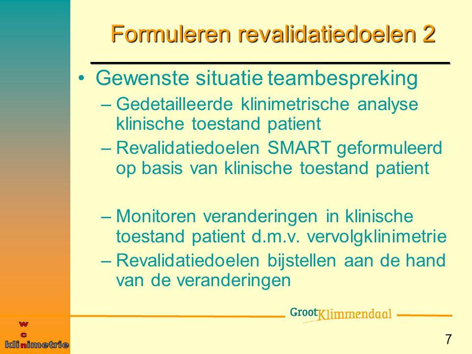 Formuleren revalidatiedoelen 2