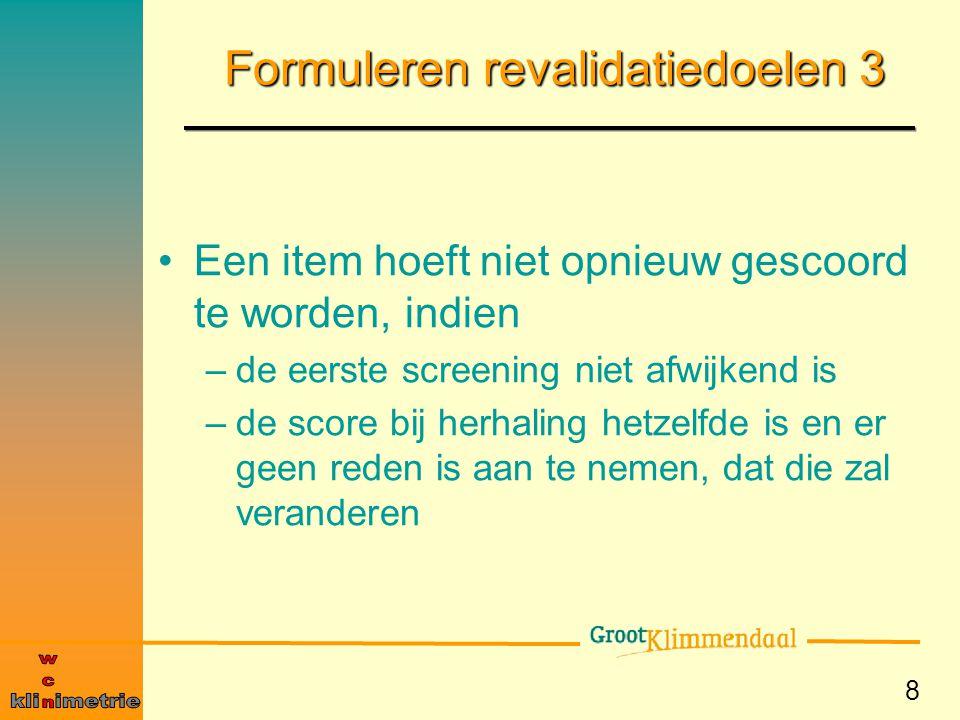 Formuleren revalidatiedoelen 3