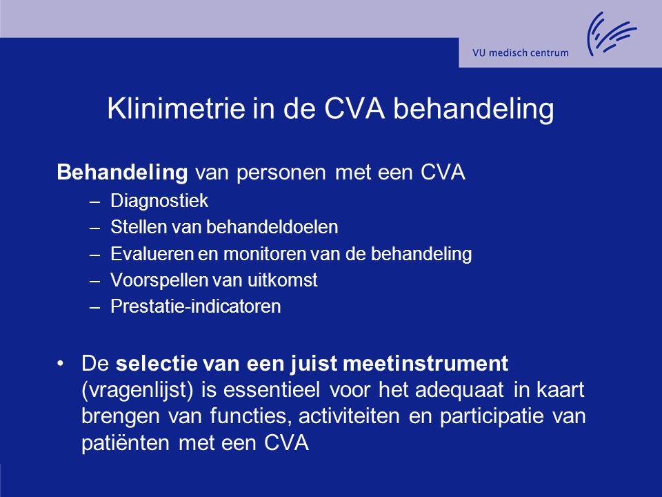 Klinimetrie in de CVA behandeling