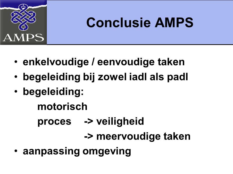 Conclusie AMPS enkelvoudige / eenvoudige taken