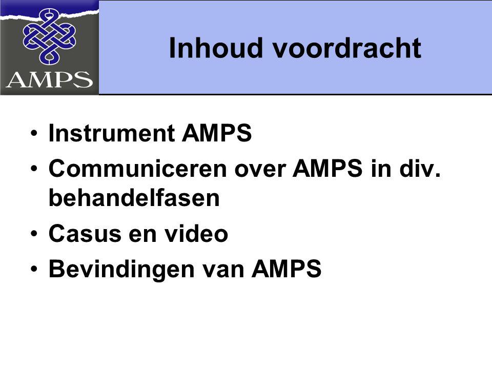 Inhoud voordracht Instrument AMPS