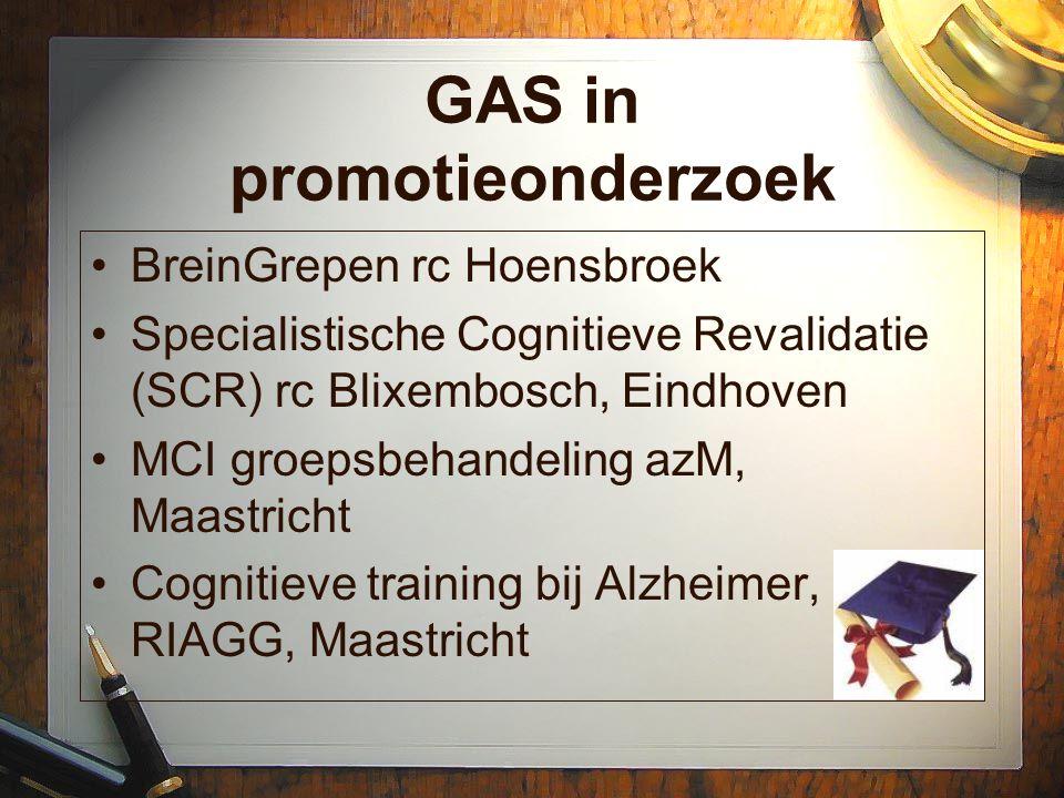 GAS in promotieonderzoek