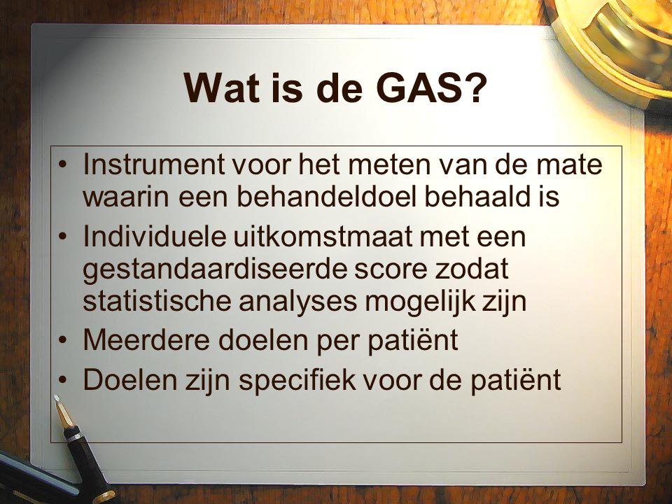 Wat is de GAS Instrument voor het meten van de mate waarin een behandeldoel behaald is.
