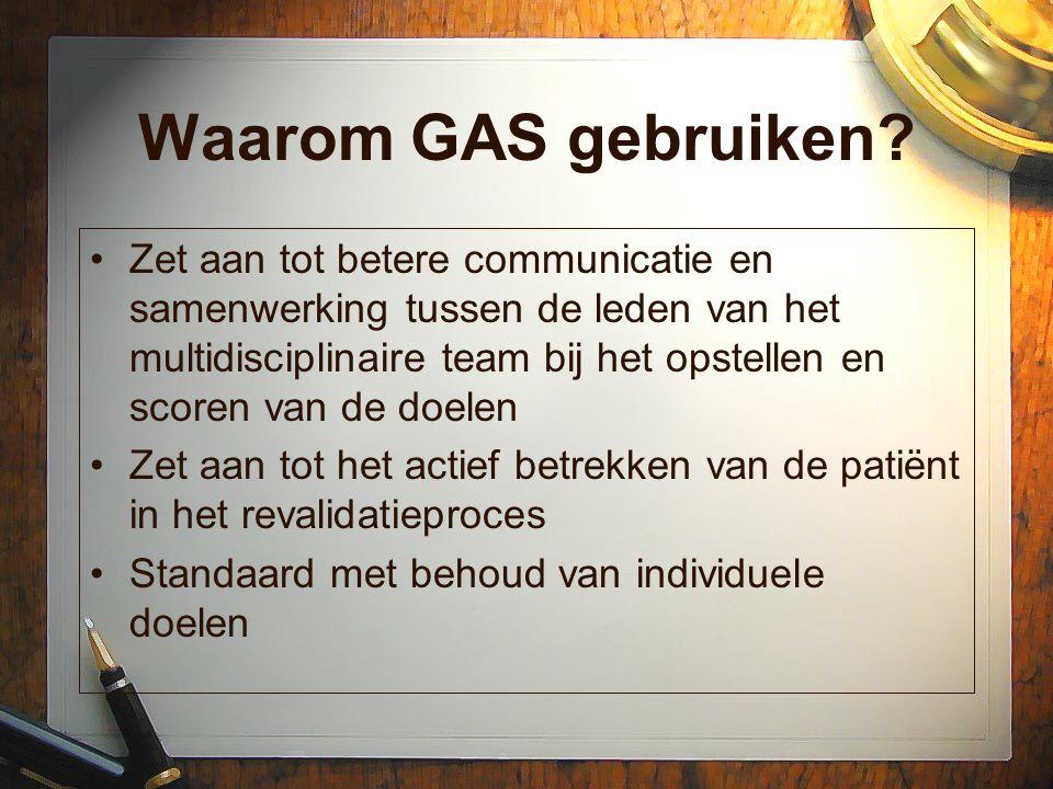 Waarom GAS gebruiken