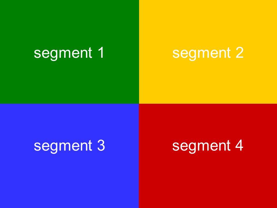 segment 1 segment 2 segment 3 segment 4