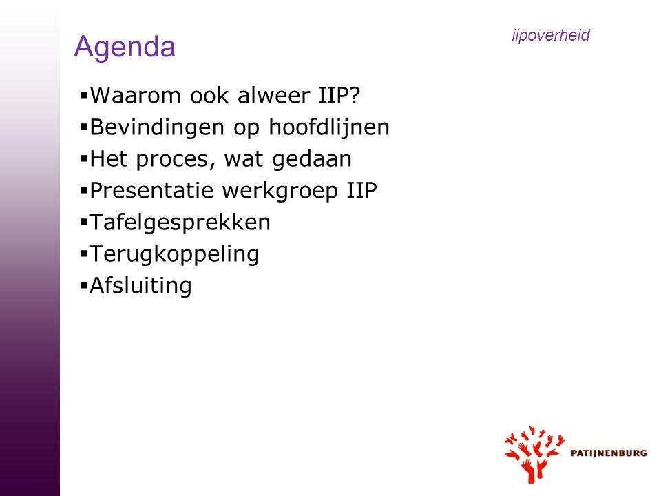 iipoverheid Agenda Waarom ook alweer IIP Bevindingen op hoofdlijnen