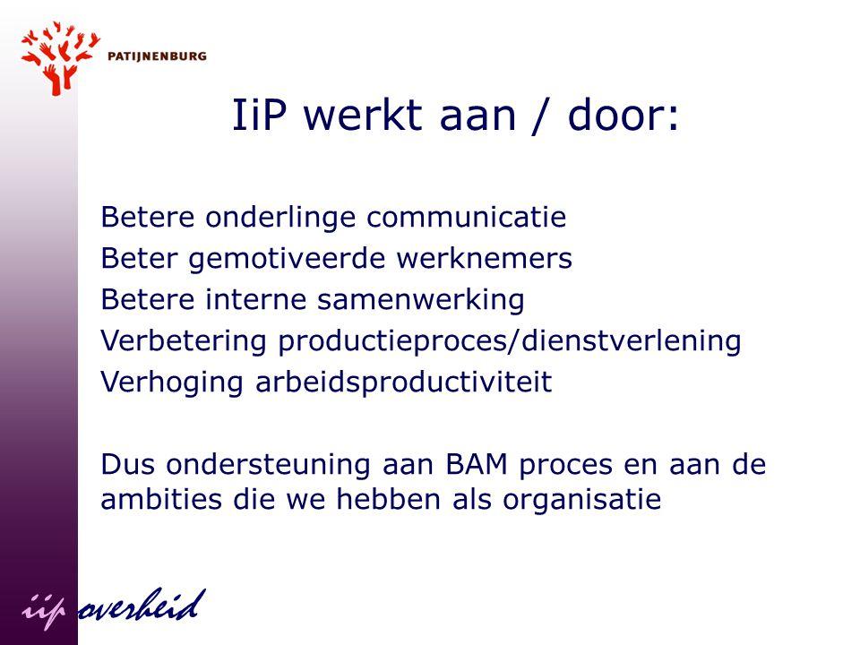 iip overheid IiP werkt aan / door: Betere onderlinge communicatie