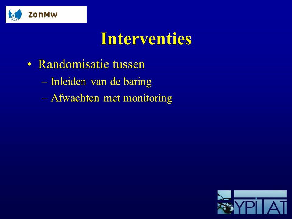 Interventies Randomisatie tussen Inleiden van de baring