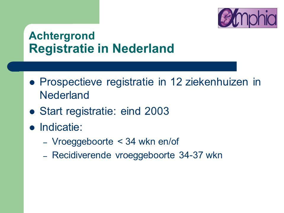 Achtergrond Registratie in Nederland