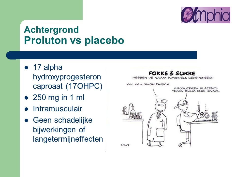 Achtergrond Proluton vs placebo