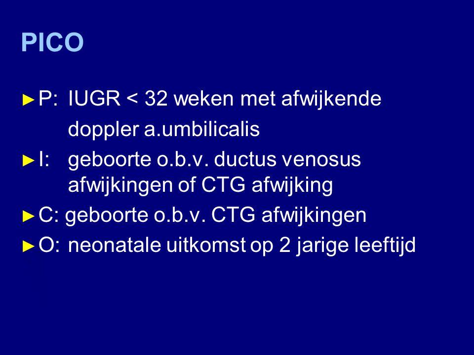 PICO P: IUGR < 32 weken met afwijkende doppler a.umbilicalis