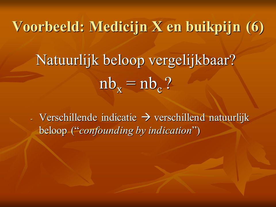 Voorbeeld: Medicijn X en buikpijn (6)