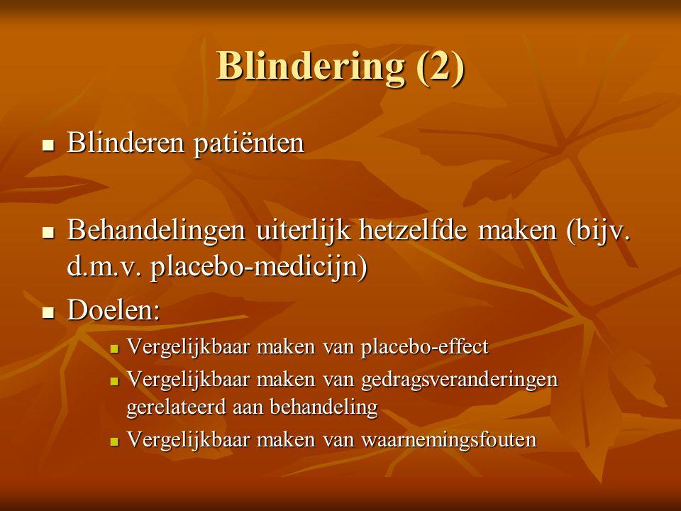 Blindering (2) Blinderen patiënten