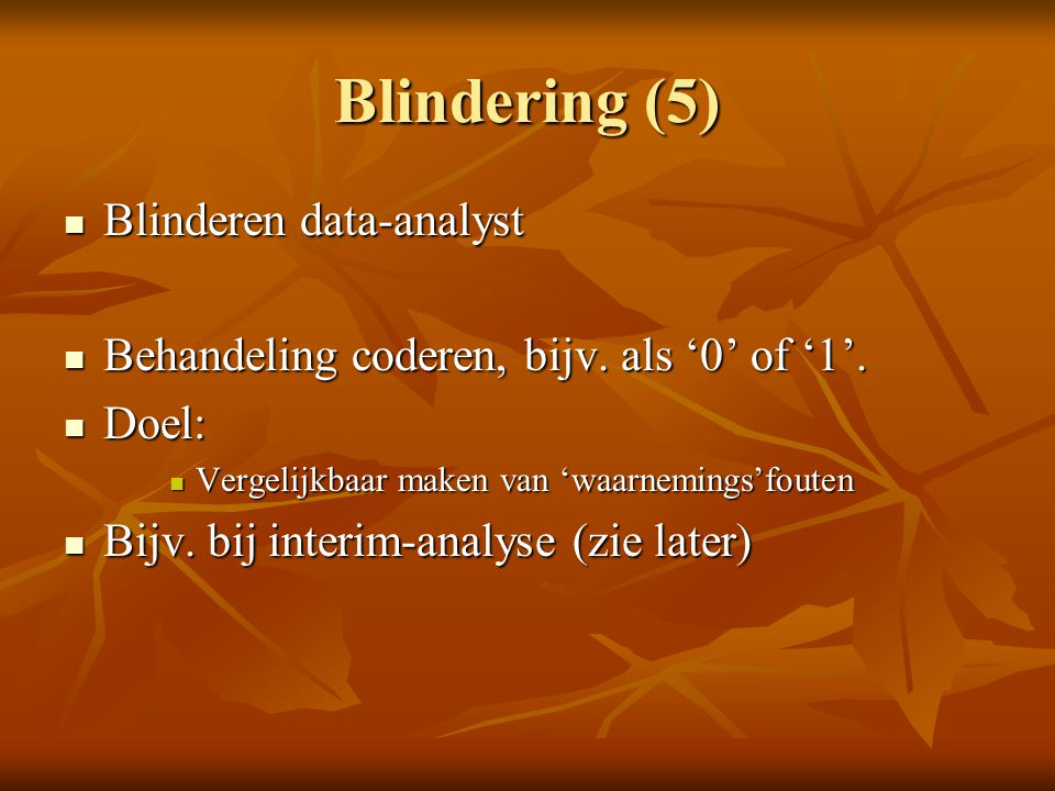Blindering (5) Blinderen data-analyst