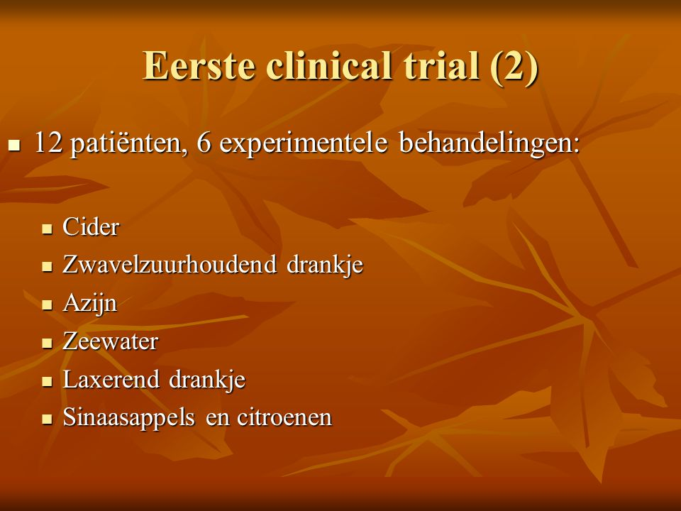 Eerste clinical trial (2)
