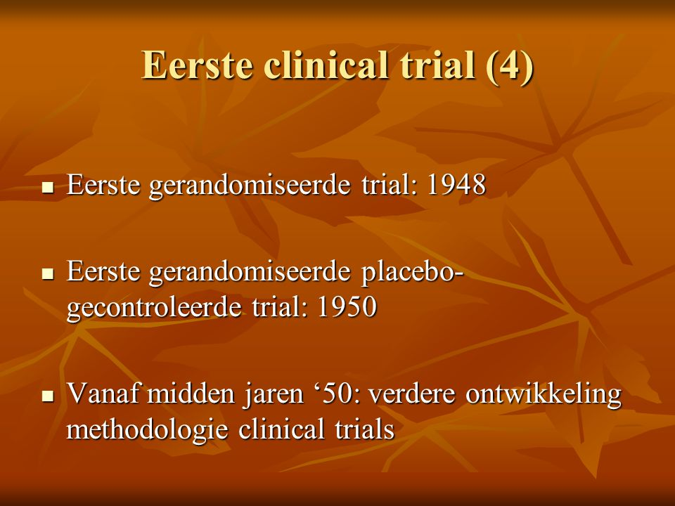 Eerste clinical trial (4)