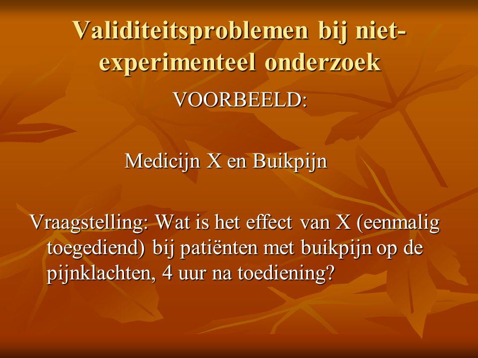 Validiteitsproblemen bij niet-experimenteel onderzoek