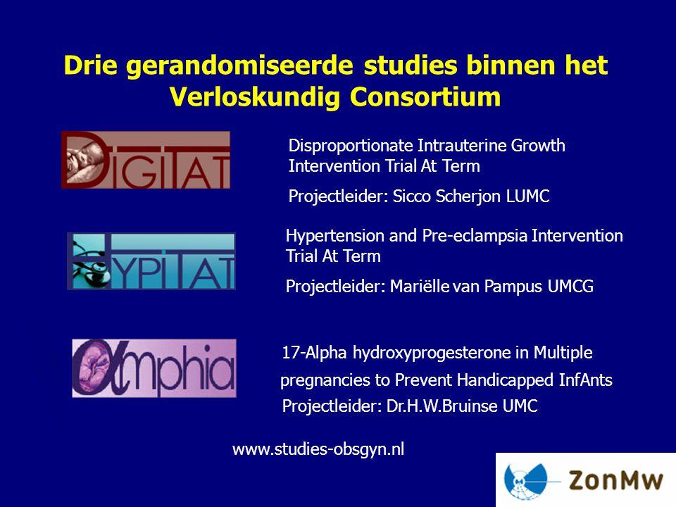 Drie gerandomiseerde studies binnen het Verloskundig Consortium