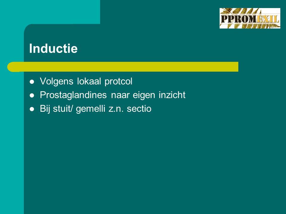 Inductie Volgens lokaal protcol Prostaglandines naar eigen inzicht