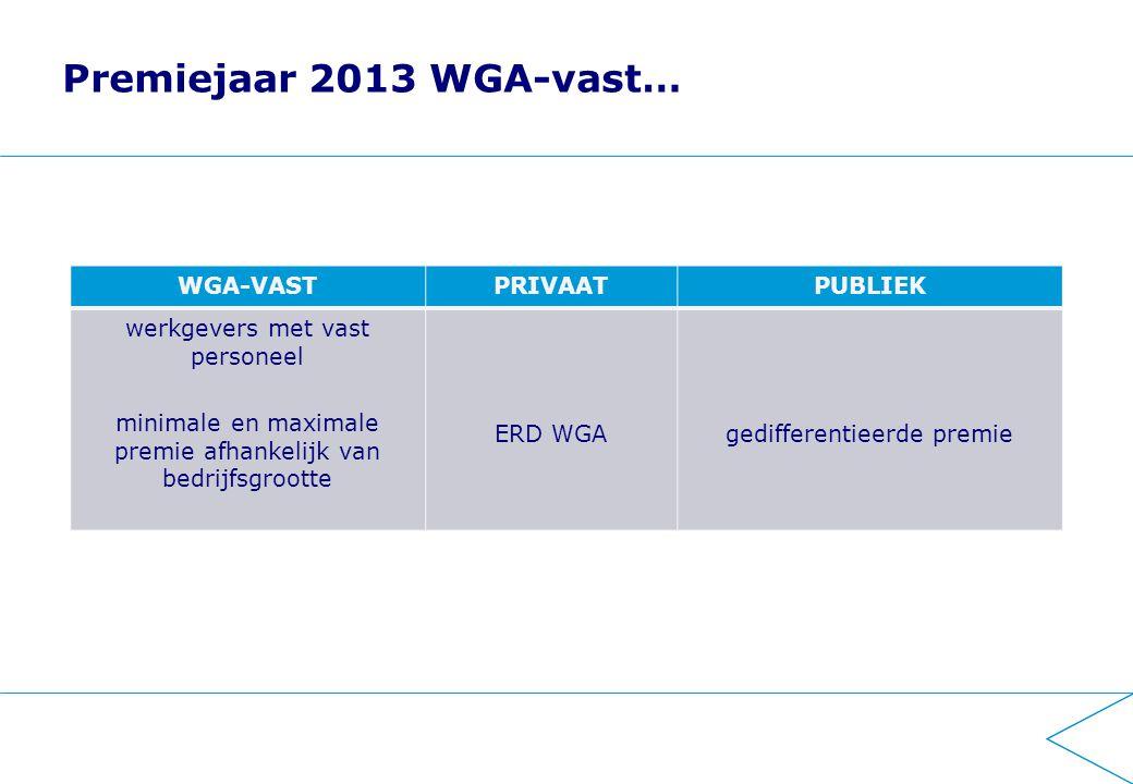 2014 stap 1 WGA Invoering premiedifferentiatie WGA-flex