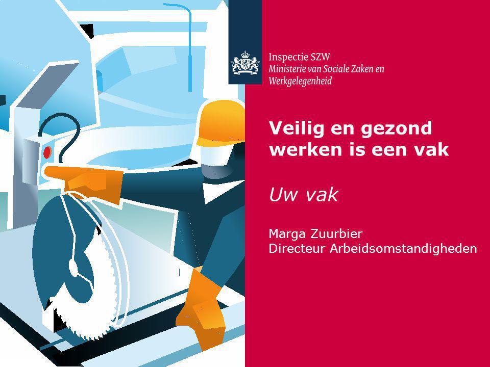 Veilig en gezond werken is een vak Uw vak Marga Zuurbier Directeur Arbeidsomstandigheden
