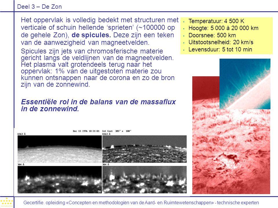 Essentiële rol in de balans van de massaflux in de zonnewind.