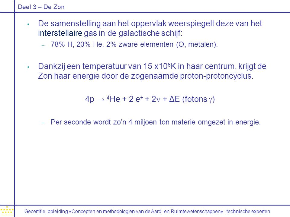 4p → 4He + 2 e+ + 2n + ΔE (fotons g)