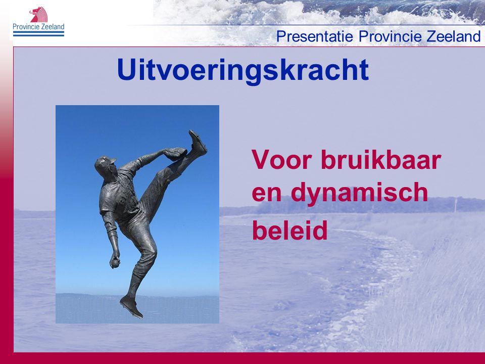 Uitvoeringskracht Voor bruikbaar en dynamisch beleid 24 januari 2007